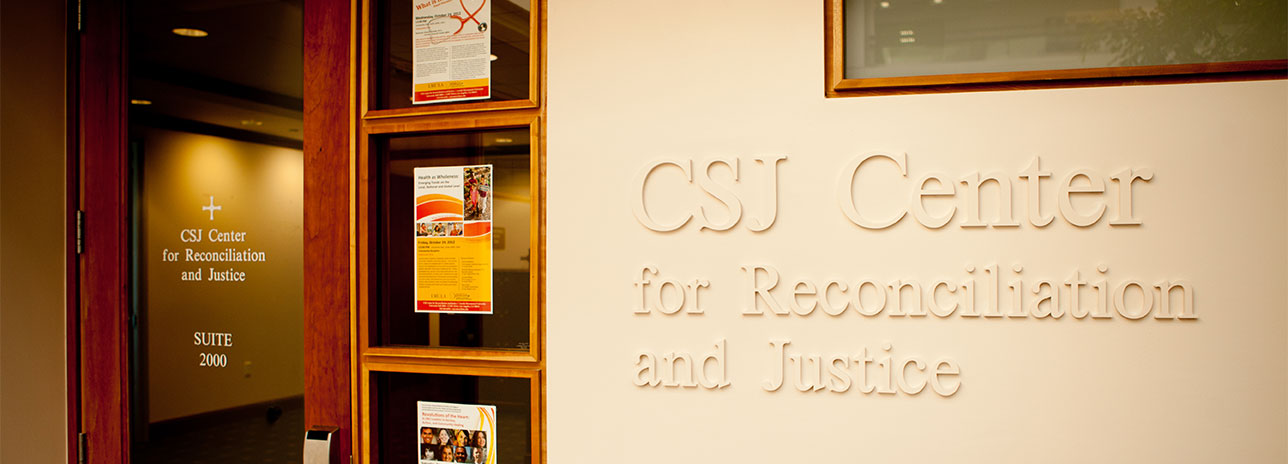 Photo of front of CSJ Center offices.