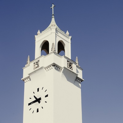 Sacred Heart Chapel clock tower